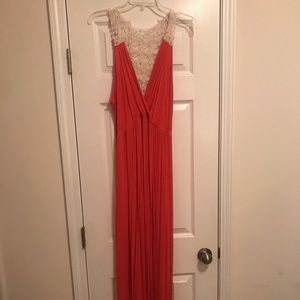 Orang Knit Maxi with Crochet Detail